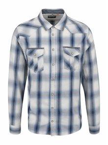 Modro-krémová neformální košile s kapsami Blend
