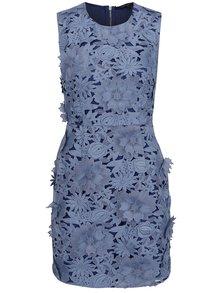 Rochie albastră French Connection Manzoni cu aspect floral discret