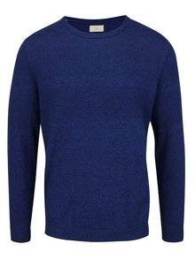 Tmavomodrý melírovaný sveter Selected Homme John