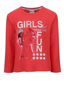 Bluză roșie LEGO Wear Tallys cu print pentru fete