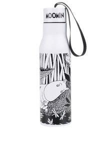 Termos alb negru cu print Disaster Moomin Midwinter