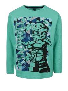 Zelené klučičí triko s potiskem a dlouhým rukávem LEGO Wear