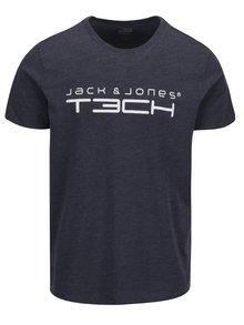 Tmavě modré triko s potiskem Jack & Jones Foam
