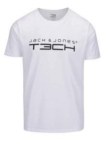 Bílé triko s potiskem Jack & Jones Foam