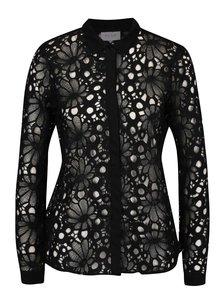 Čierna čipkovaná košeľa  VILA Julin
