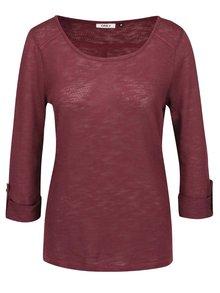 Hnedovínové tričko s 3/4 rukávom ONLY Jess