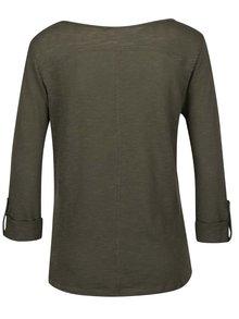 Khaki tričko s 3/4 rukávem ONLY Jess