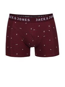 Boxeri roșu Bordeaux cu imprimeu Jack & Jones Univers