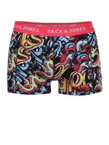 Modro-růžové vzorované boxerky Jack & Jones Clue