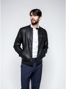 Čierna koženková bunda ONLY & SONS Joren