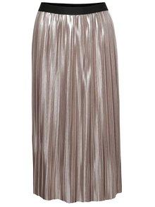 Béžová metalická plisovaná sukně TALLY WEiJL