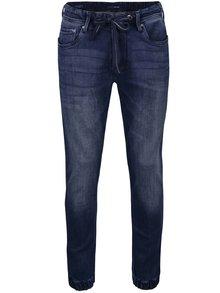 Jeanși albastru închis cu șnur în talie Pepe Jeans Sprint