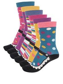 Súprava šiestich farebných dámskych ponožiek Oddsocks Mary