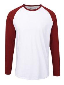 Bluză alb cu roșu Jack & Jones Stan cu mâneci raglan