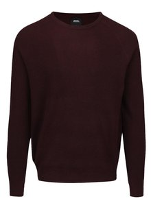 Pulover roșu burgundy Burton Menswear London
