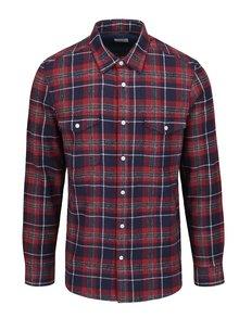 Červená flanelová kockovaná košeľa Burton Menswear London