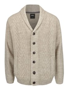 Cardigan bej tricotat Burton Menswear London