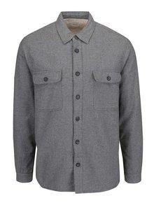Jachetă gri cu aspect de cămașă Burton Menswear London
