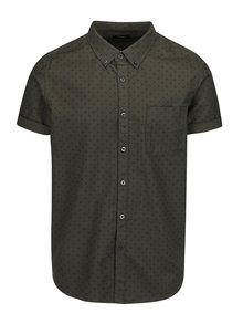 Kaki vzorovaná košeľa s krátkym rukávom Burton Menswear London