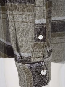 Čierno-zelená flanelová károvaná košeľa Burton Menswear London