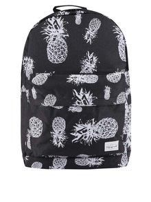 Rucsac negru unisex Spiral Pineapple 18 l cu model
