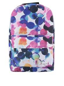 Růžovo-modro-krémový dámský batoh Spiral Watercolour 18 l