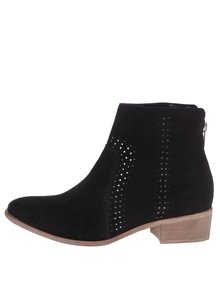 Čierne semišové členkové topánky Dorothy Perkins