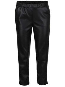 Černé koženkové kalhoty Miss Selfridge