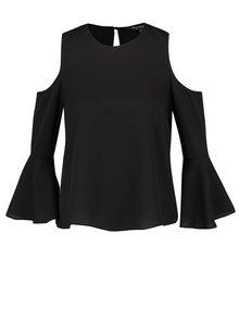 Bluza cold choulder neagra cu maneci clopot Miss Selfridge