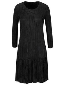 Černé plisované šaty s dlouhými rukávy Rich & Royal
