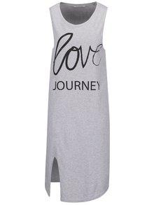 Sivé šaty s potlačou a rozparkom Rich & Royal