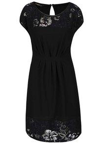 Rochie neagră Desigual Moon cu dantelă