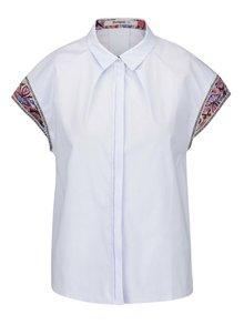 Svetlomodrá košeľa s krátkymi vzorovanými rukávmi Desigual Marian
