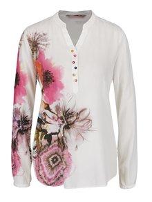 Krémová košile s potiskem květin Desigual Butterfly