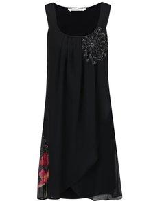 Rochie neagră Desigual Nuri cu model