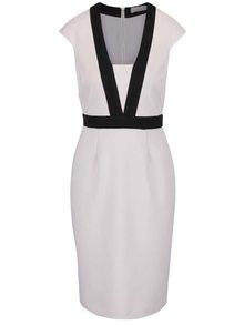 Svetlosivé puzdrové šaty Dorothy Perkins Petite