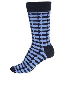 Modré pánské ponožky s šipkami Happy Socks Direction