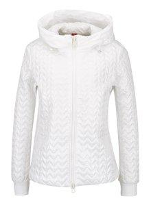 Bílá dámská  bunda s kapucí Geox