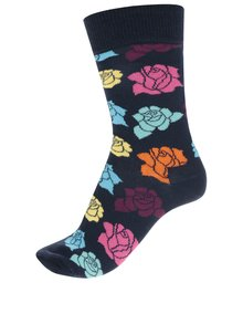 Șosete bleumarin Happysocks Rose Sock