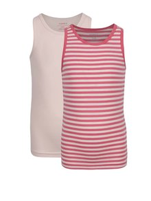 Súprava dvoch dievčenských tielok v ružovej farbe name it Tank