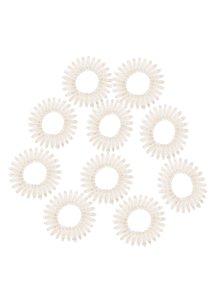 Sada deseti průhledných spirálových gumiček Pieces Spiral