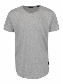 Svetlosivé žíhané basic tričko ONLY & SONS Matt