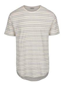 Krémové pruhované tričko ONLY & SONS Justin