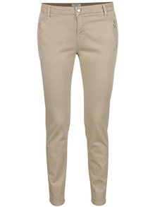Pantaloni chino bej Selected Femme Ingrid