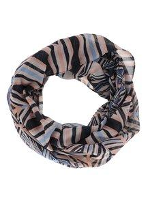 Modro-růžový dutý vzorovaný šátek Pieces Lilla