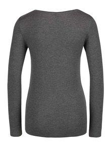 Sivé tričko s dlhým rukávom Selected Femme Paja