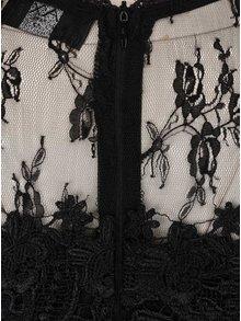 Rochie neagra lunga AX Paris cu detalii din dantela
