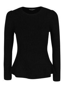 Čierny sveter s rozšírenou spodnou časťou Miss Selfridge