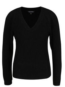 Čierny sveter s priestrihmi na rukávoch Miss Selfridge
