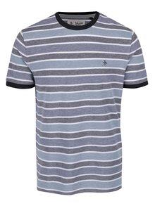 Šedo-modré pruhované triko Original Penguin Birdseye